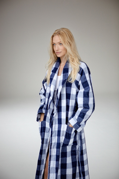 Morningrobe bluecheck model 9563